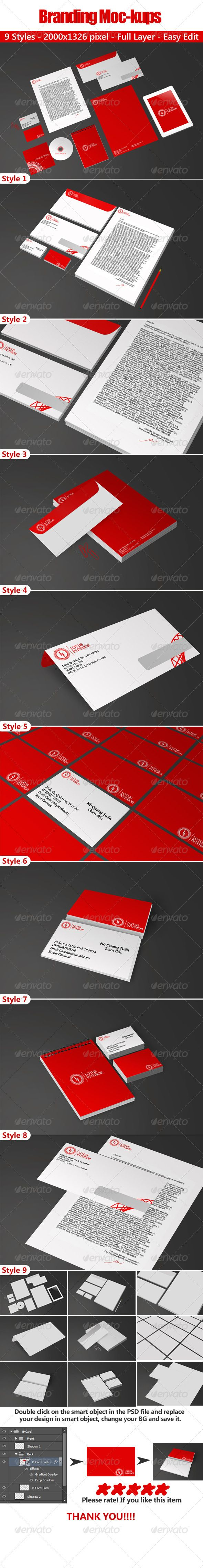 Branding Mockups  #GraphicRiver         Easy to edit via smart objects. Just open the psd file and then replace all of the objects. Help file included.  	 Items Included : Letterhead A4 Envelope 22×12cm Business card 5.5X9cm CD cover 13.5X13.5cm CD 11.6X11.6cm ipad mini Book 13×18cm Pen, Papers Clips     Created: 15May13 GraphicsFilesIncluded: PhotoshopPSD HighResolution: Yes Layered: Yes MinimumAdobeCSVersion: CS PixelDimensions: 2000x1326 Tags: Cavoicat #Headletter #book #brand…