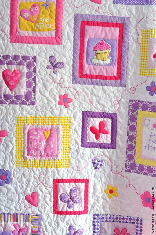 """Купить Лоскутное покрывало (текстильный комплект) """"Розовые грезы"""" - розовый, лоскутное одеяло, лоскутное покрывало"""