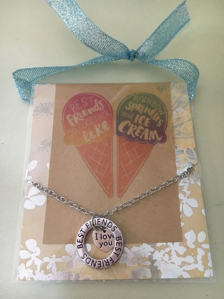 Best Friends I Love You  Necklace In Gift Package  | eBay
