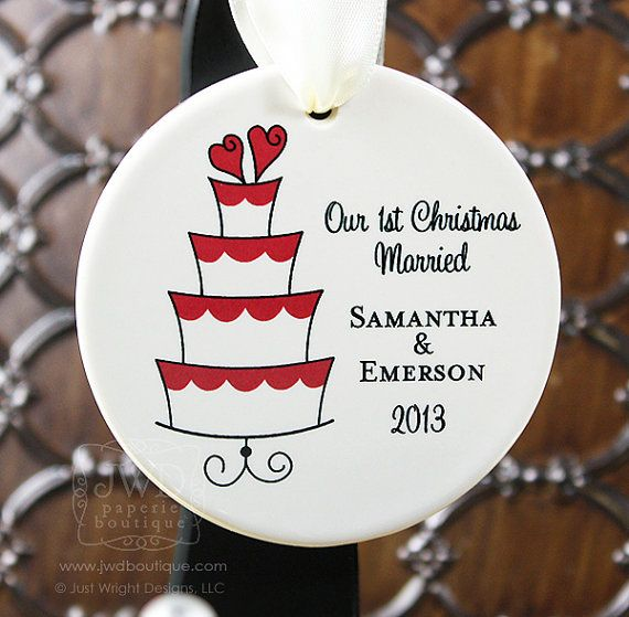 Our First Christmas Ornament Our First Christmas by JWDBoutique
