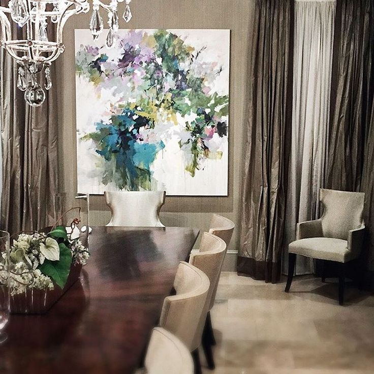 65x61 In A Collectors Dining Room Bal Harbour FL Artist Painting Abstract