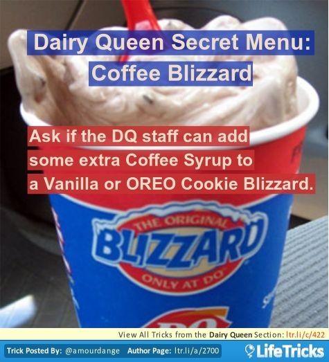 Dairy Queen - Dairy Queen Secret Menu: Coffee Blizzard