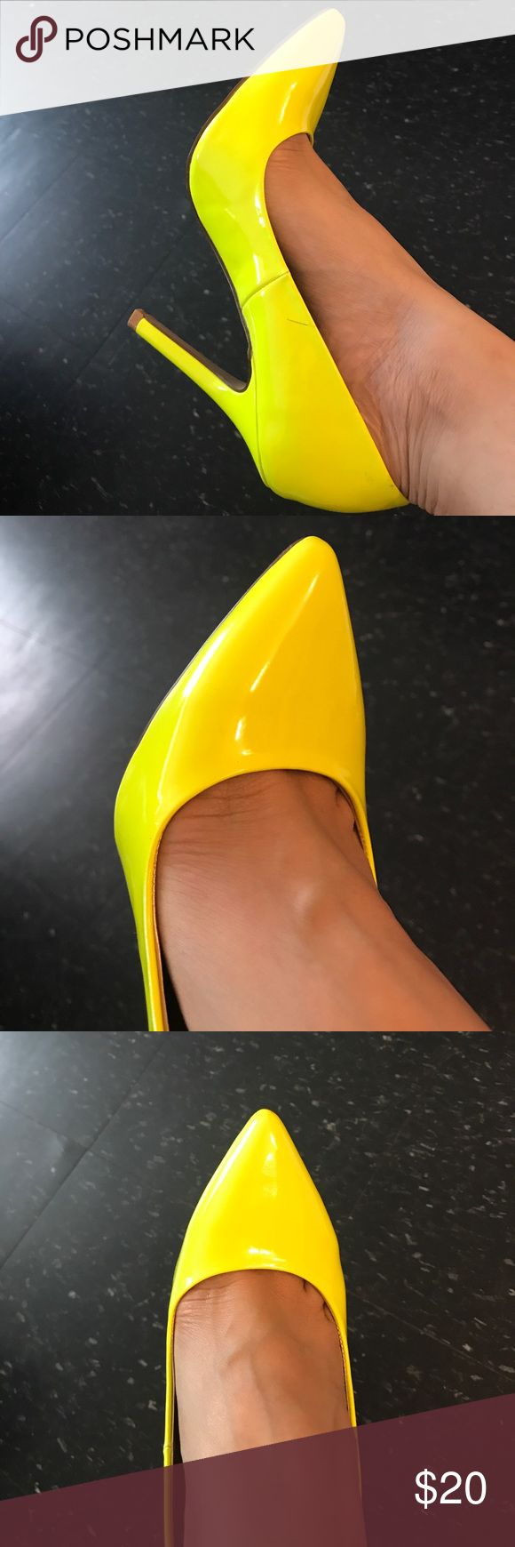 Neon Yellow Pumps / Shoes Neon Yellow Pumps / Shoes Size 8 1/2 Shoes Heels
