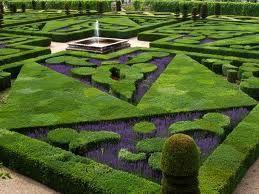 French Formal Garden in Loire Valley, Villandry