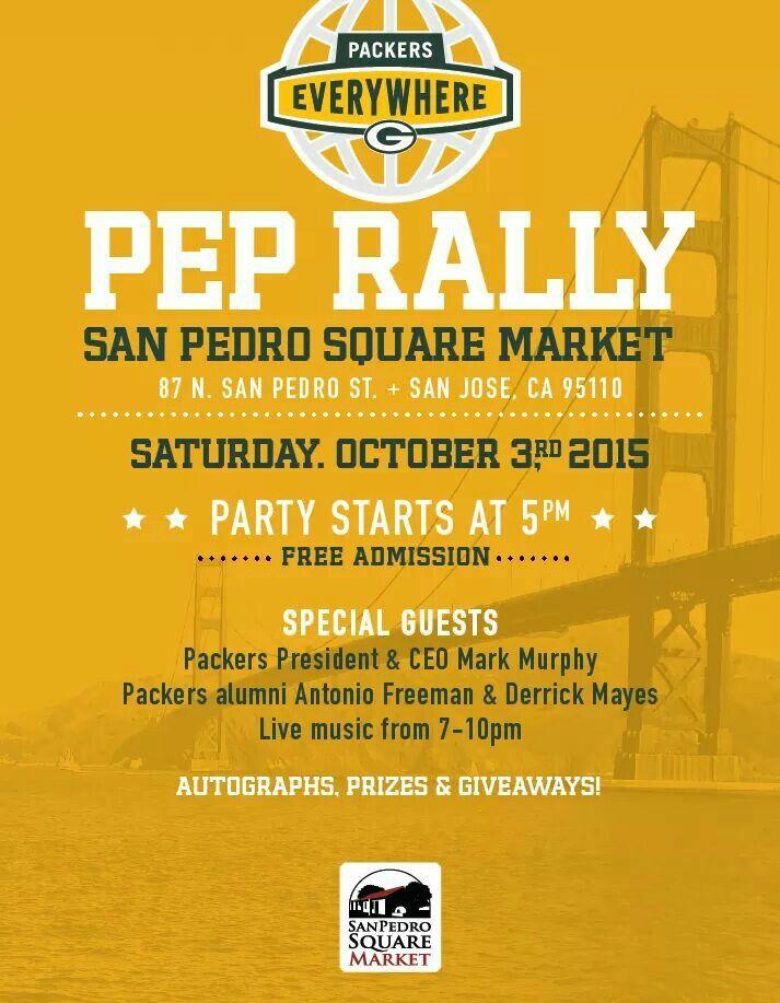 Packers vs 49ers pep rally
