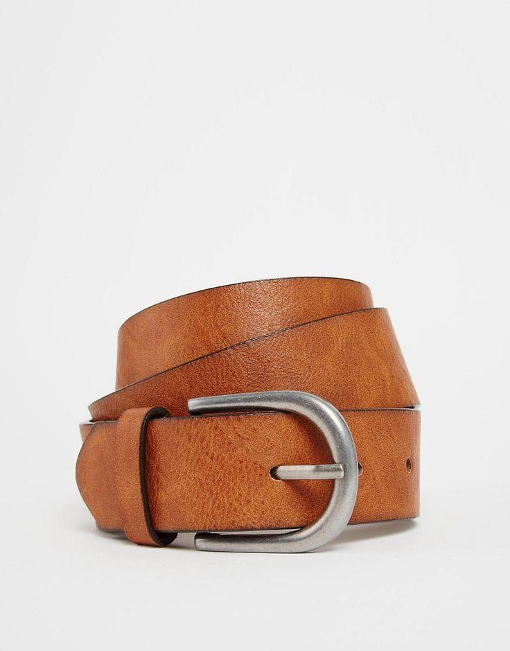 Immagine 1 di ASOS - Cintura vintage color cuoio per jeans