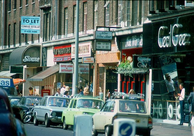 1976 - Kings Road, London  Up the Kings Road - where back in the day punk rockers hung out.