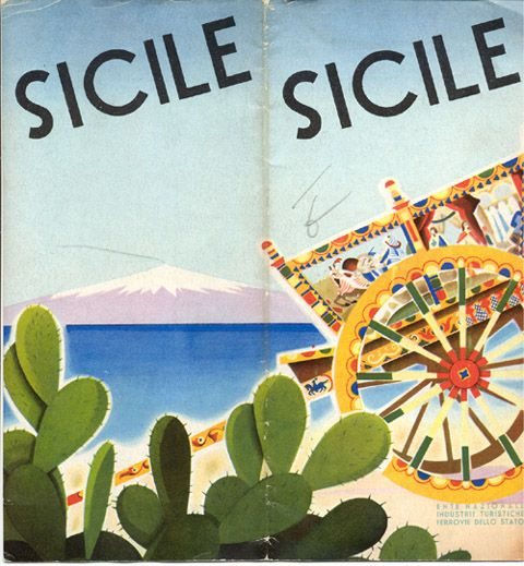 Sicily Italy Attractions | Travel brochure for Sicily, 1933. Published by the Ente Nazionale ...