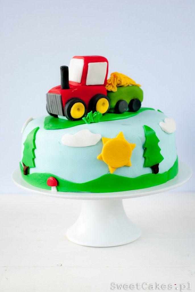 Tort Traktor Pomysl Ktory Zadowoli Niejednego Brzdaca Kinder Kuchen Torte Kindergeburtstag Traktor Kuchen