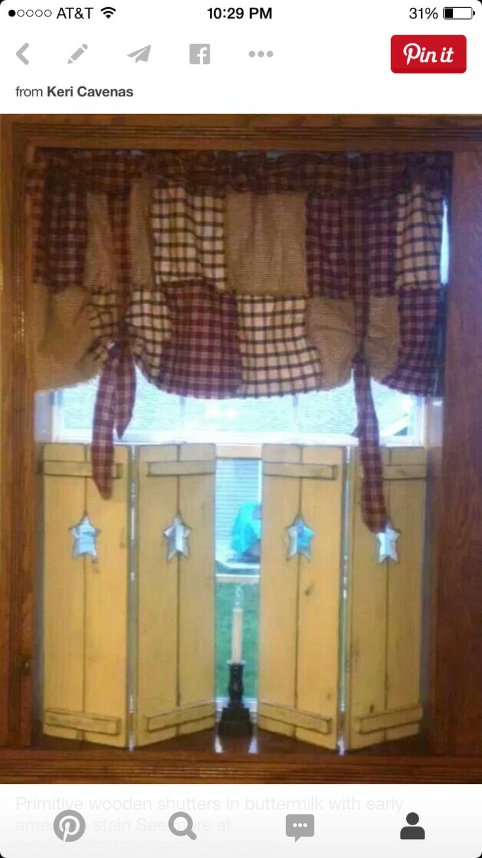 My Room Primitive ShuttersPrimitive CurtainsPallet