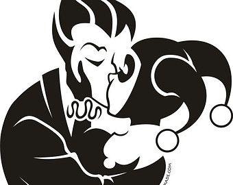 Joker And Harley Quinn Vinyl Decal Free By