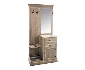 Armadio con specchio in legno Luis - 93x200x43 cm