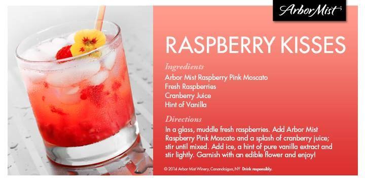 Arbor Mist Moscato Recipe: Raspberry Kisses #ArborMist #Recipes #Moscato