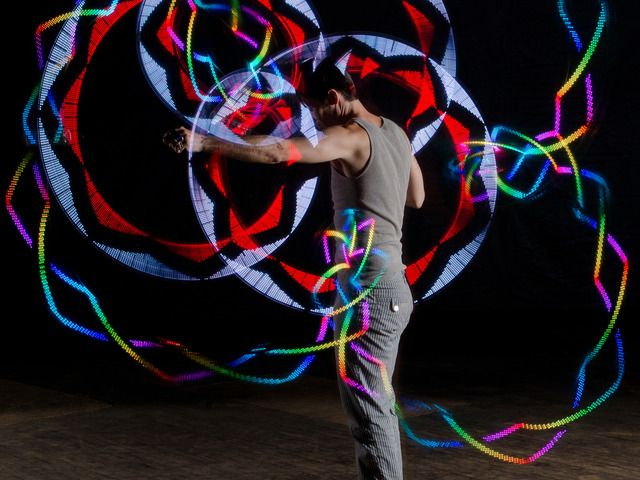SpinFX: Persistence of Vision Poi and Phoenix LED Hoop by Lauren Shaw, via Kickstarter.