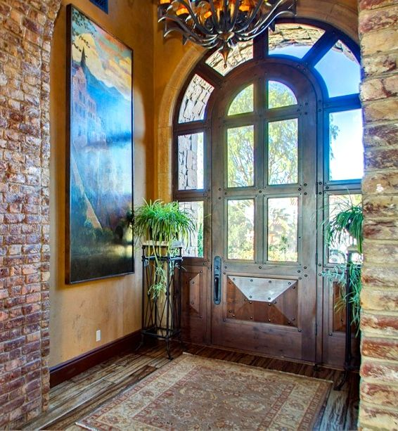 2072 best tuscan old world french mediterranean homes for Mediterranean style entry doors