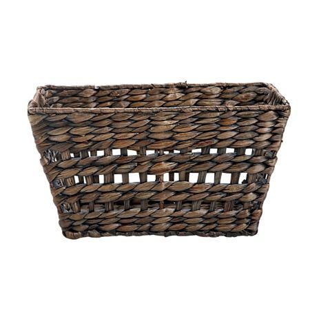Necessities Brand Rectangle Basket Dark Wash