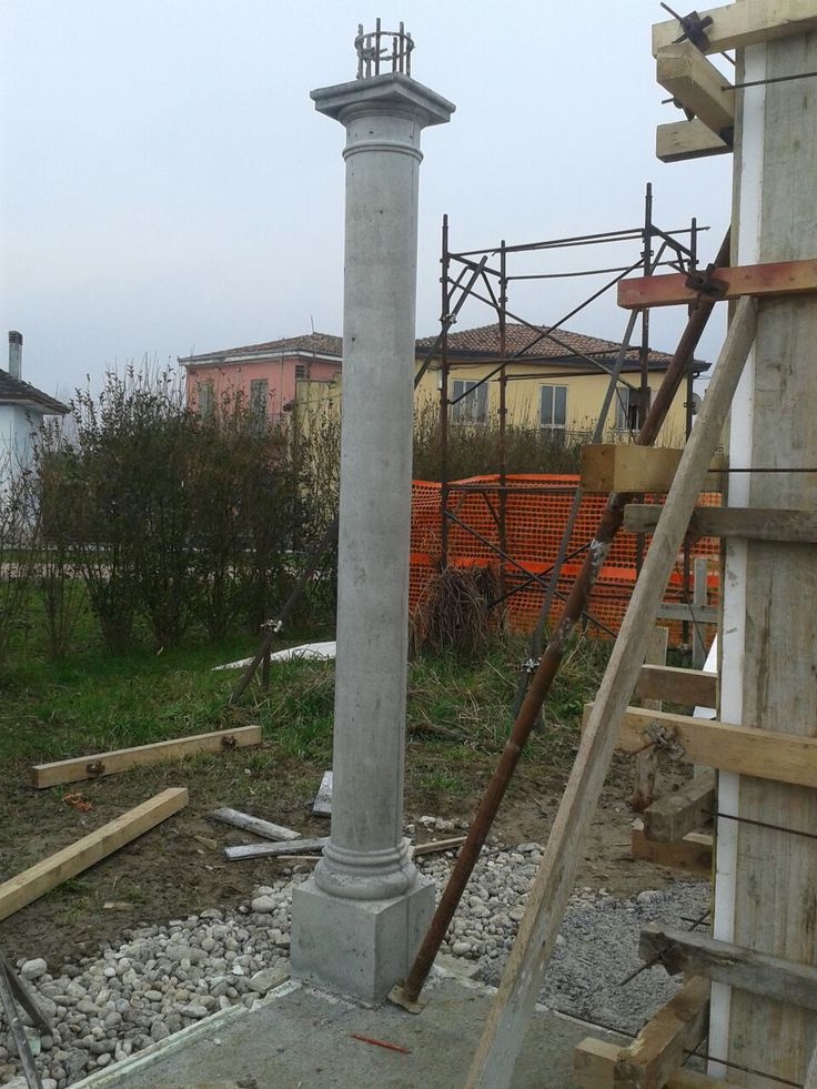 Colonna con Base e Capitello - Cassero in polistirolo e rivestito con resina - Venduta come getto non a vista. Risultato Ottimo!!!