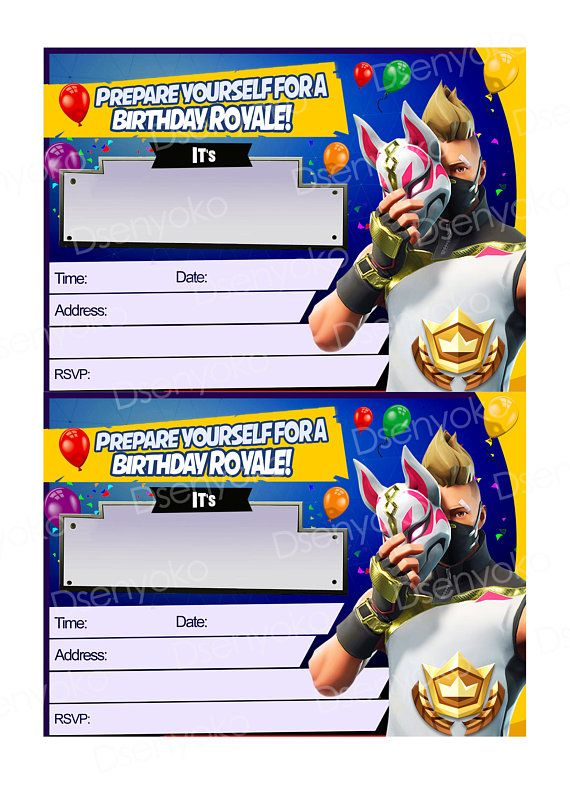 photograph about Printable Fortnite identified as Printable / Fortnite / Birthday Social gathering / Fortnite Invitation