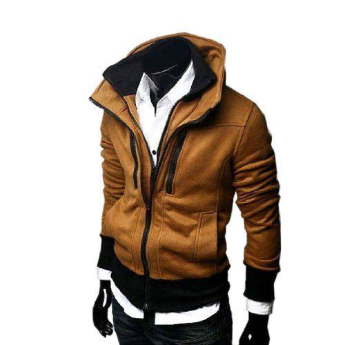 Herren Jungen Stehkragen Blazer Doppel Reißverschluss Jacke Slim Fit Casual Coat Sport Outerwear (Medium, Kaffee) Fashion Season http://www.amazon.de/dp/B00FFU41BE/ref=cm_sw_r_pi_dp_quj5tb1M20BS2