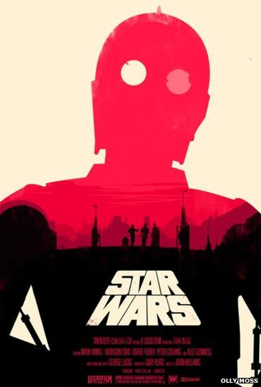 Star Wars alternative film poster by Olly Moss.