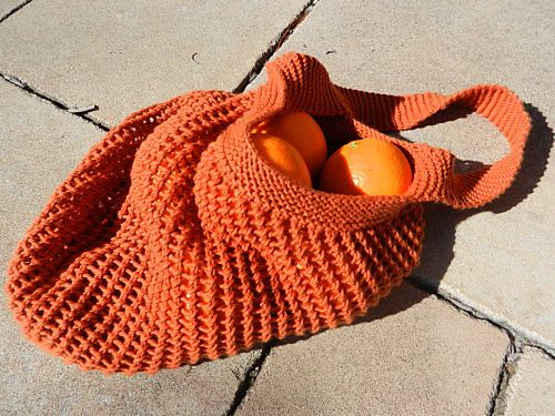 knit market bag, free pattern from Ravelry