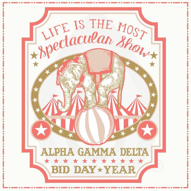 Geneologie | Greek Tee Shirts | Greek Tanks | Custom Apparel Design | Custom Greek Apparel | Sorority Tee Shirts | Sorority Tanks | Sorority Shirt Designs  | Sorority Shirt Ideas | Greek Life | Hand Drawn | Sorority | Sisterhood | Bid Day | Recruitment | Circus | Fair | Carnival | Elephant | AGD | Alpha Gamma Delta