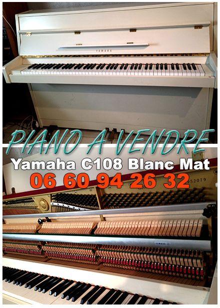 Piano à vendre - YAMAHA C108 Blanc Mat - Made in Japan...
