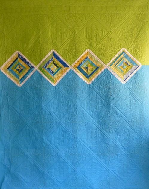 A quilt back