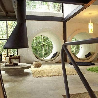 Las 25 mejores ideas sobre ventanas redondas en pinterest - Vidrios para chimeneas ...