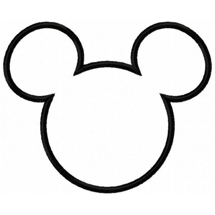 Mouse Head Silhouette For Mickey Dress Machine Embroidery Designs And Ideas Pinterest