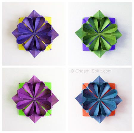 The 270 best origami flowers images on pinterest origami flowers video tutorial che mostra come fare un fiore origami geometrico mightylinksfo