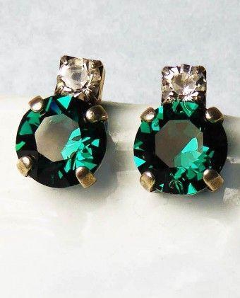 Rachel Marie Designs Jackie Emerald Earrings