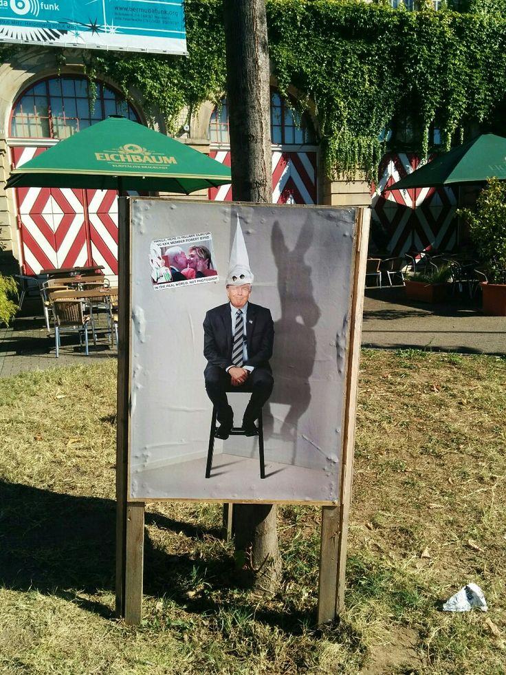 Part of the campaign #MutzurWut, found at Alte Feuerwache, Mannheim