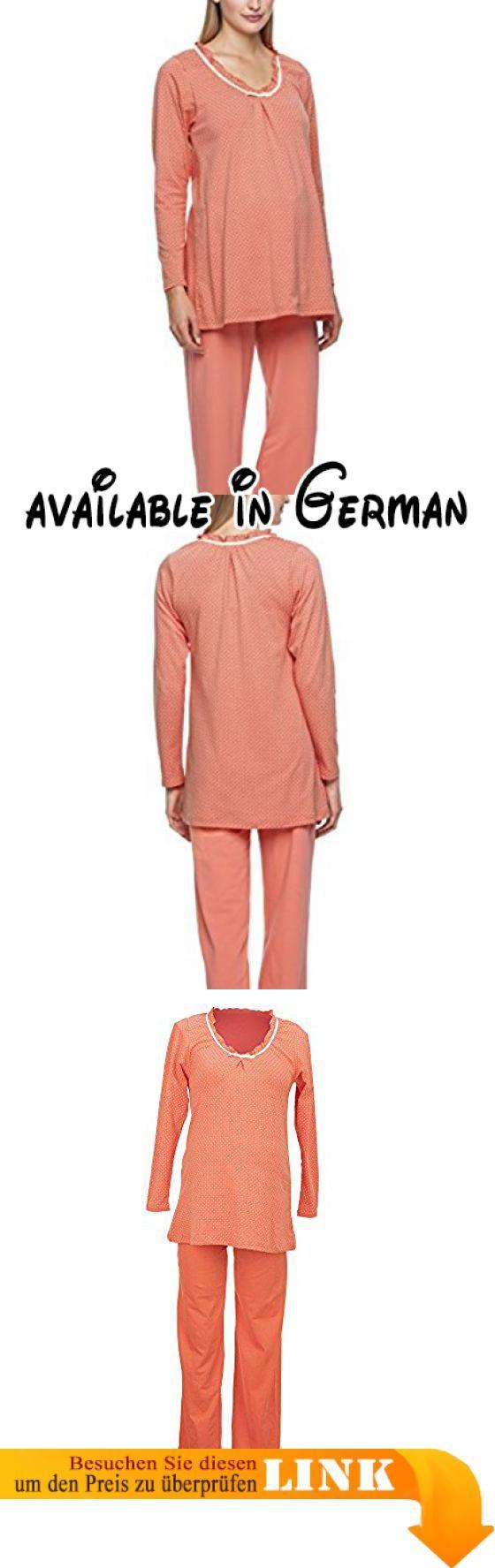 Anita Maternity Damen Umstands Schlafanzug Pyjama Heather, Gr. 36 (Herstellergröße: S), Orange (coralle 525). <b>ANITA 1240</b>. <b>S </b>. <b>coralle</b>. <b>Nachtwäsche</b> #Apparel #SLEEPWEAR