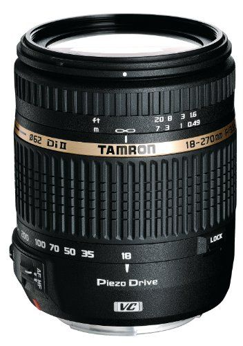 Tamron AF 18-270mm f/3.5-6.3 VC PZD All-In-One Zoom Lens for Canon DSLR, Model BOO8E Filter Size 062mm Tamron,http://www.amazon.com/dp/B004FLJVXM/ref=cm_sw_r_pi_dp_IUsBtb1E34VAZCXY