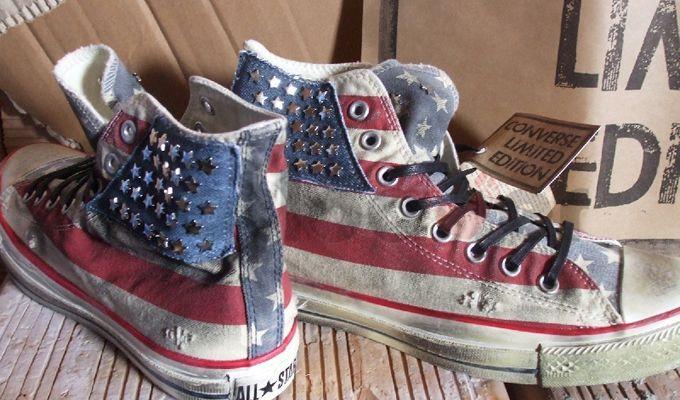 Scarpe Converse bandiera americana vintage: un successo assicurato!