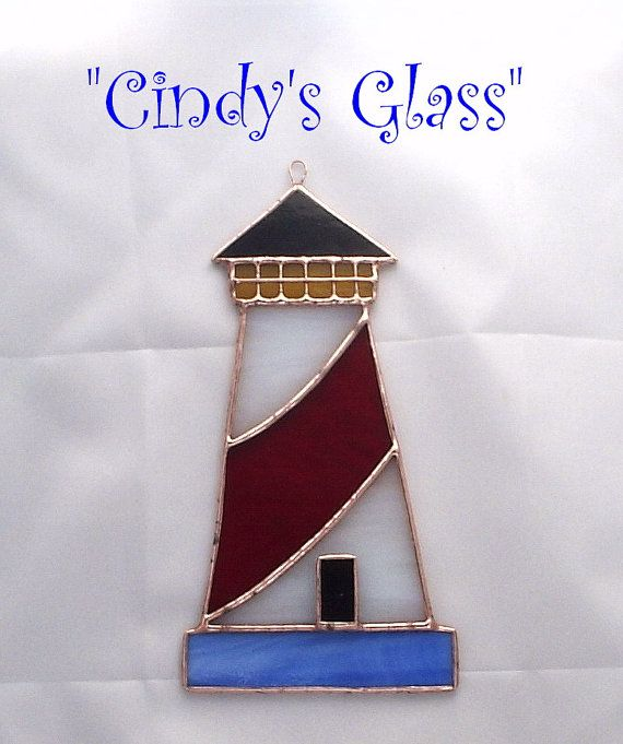 Light House Stained Glass Suncatcher Ornament by CindysGlass, $16.50