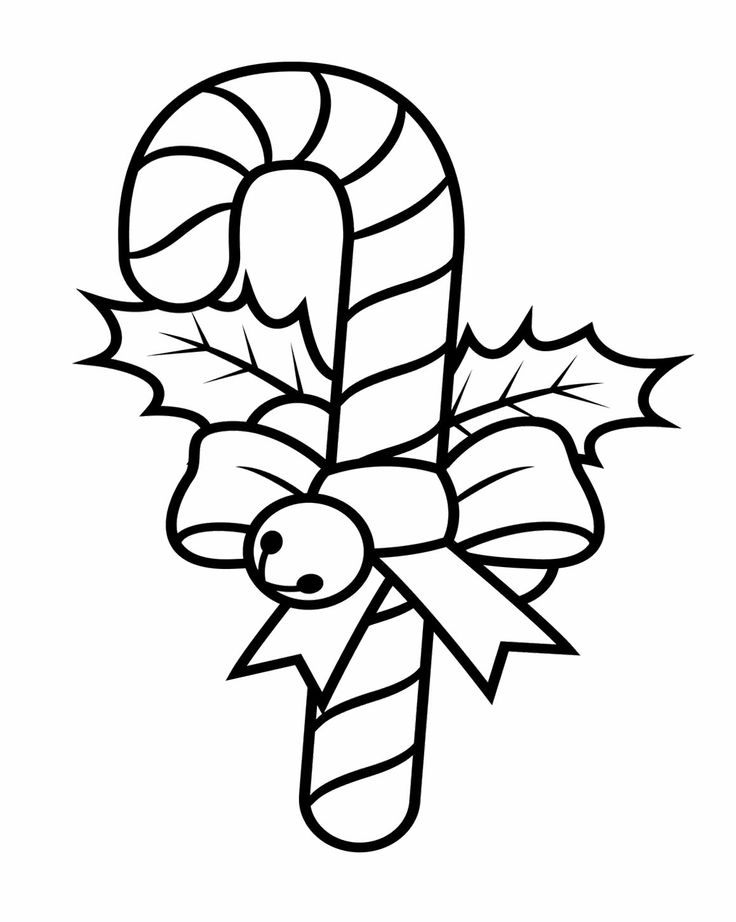 candy canes christmas coloring pages - photo#9