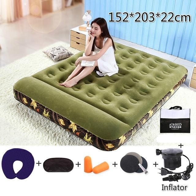 Camouflage Inflatable Mattress Household Portable Outdoor Air