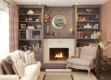Bookcase Around Fireplace Design Ideas, Pictures, Remodel, and Decor - page 3