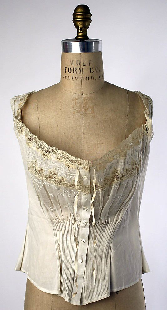 Corset Cover. ~1910, French, cotton