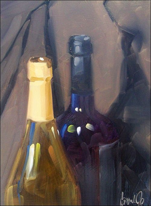 17 best images about oil painting how to 39 s on pinterest for How to color wine bottles