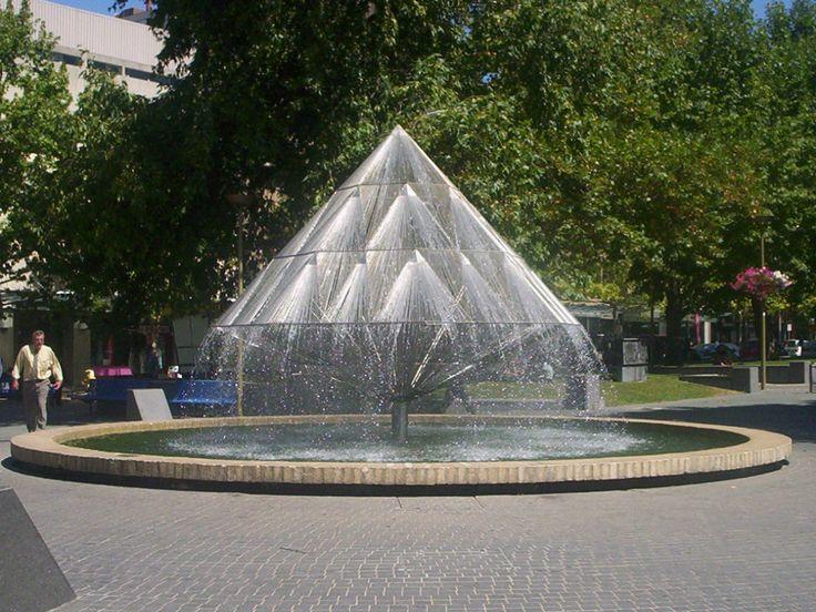 City walk canberra fountain