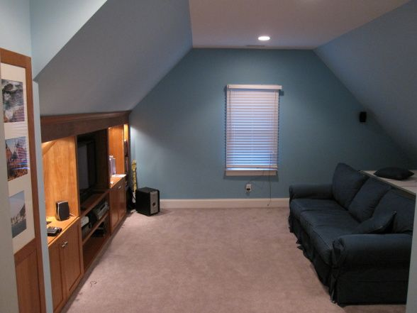 Unfinished Basement Hangout Room