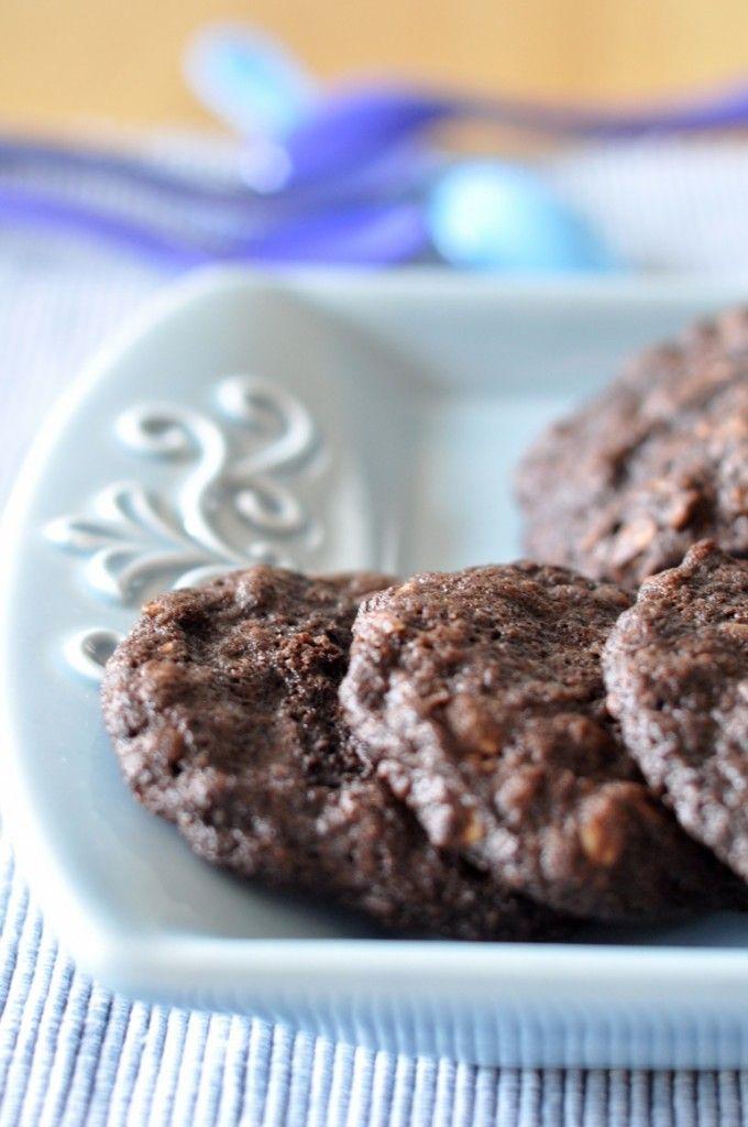 Mocno czekoladowe ciasteczka owsiane - Kuchnia Agaty - najsmaczniejszy blog kulinarny!
