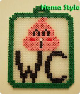 Caca rosa del Dr. Slump - hama beads