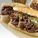 Portillo's, Chicago - This is their Italian beef sandwich with pickled peppers.
