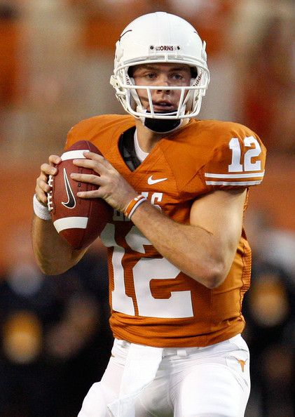 Colt McCoy another favorite athlete and outstanding young man. And once an awesome Texas Longhorn quarterback!