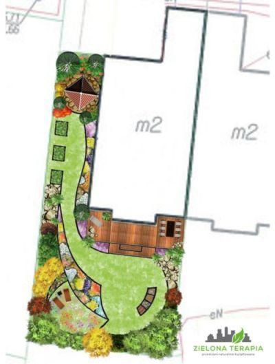 http://ZielonaTerapia.pl portfolio   Relaksacyjny ogród zmysłów. Projekt ten jest ukierunkowany na oddziaływanie na wszystkie zmysły, z nastawieniem na funkcję relaksacyjną. To ogród zmysłów zatem stymuluje sensorycznie.   http://ZielonaTerapia.pl/portfolio/relaksacyjny-ogrod-zmyslow/