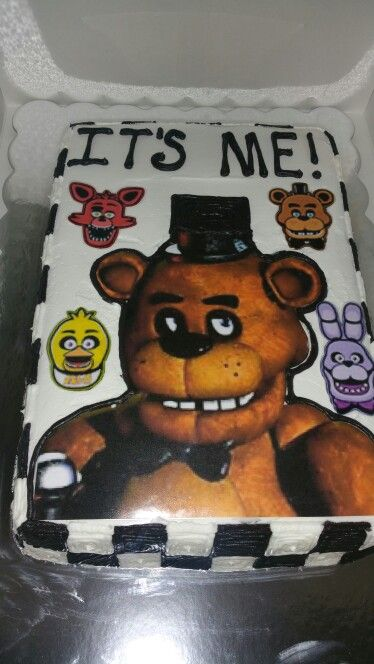 Five Nights at Freddie's cake by Iced Dreamz by April